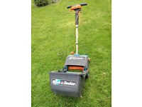 Black & Decker Electric Lawn Raker LR400 good condition with collection box and recent new tines