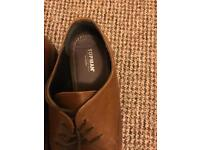 Topman brown leather shoes size 10