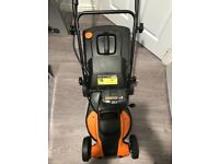 Brand new boxed worx 40v cordless lawnmower with charger and 2 20v battery