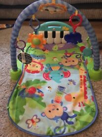 Fisher price play mat and toys