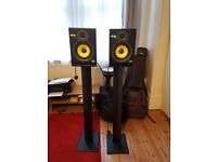 KRK Rokit 6 monitor speakers (with stands)