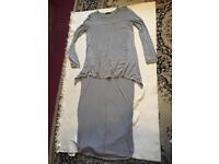 Zara ladies long tops grey size 10 used ex condition £2