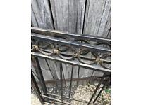 Wrought iron single head board and bed end