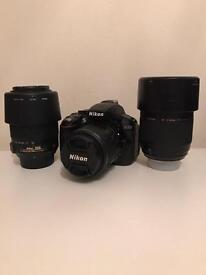 Nikon D5300 with 3 lenses