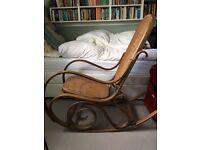 Retro bentwood Thonet style rocking chair