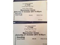 2 J.Cole Standing Tickets (Manchester Arena 21.10.17)