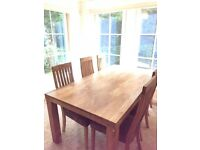 Dining table and chairs John Lewis - cost over £1500 new