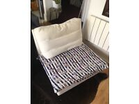Armchair relaxed chair white ikea Free