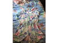 Multicoloured playsuit - plus size size 24 26 28 30