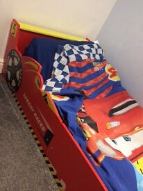Racing car bed with mattress only 3 Months old like new