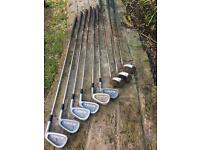 9 x golf clubs grab a bargain £10