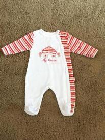 Baby neutral / unisex red babygrow Newborn