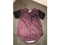 Sik Silk - Burgundy Baseball Jersey - Size XS