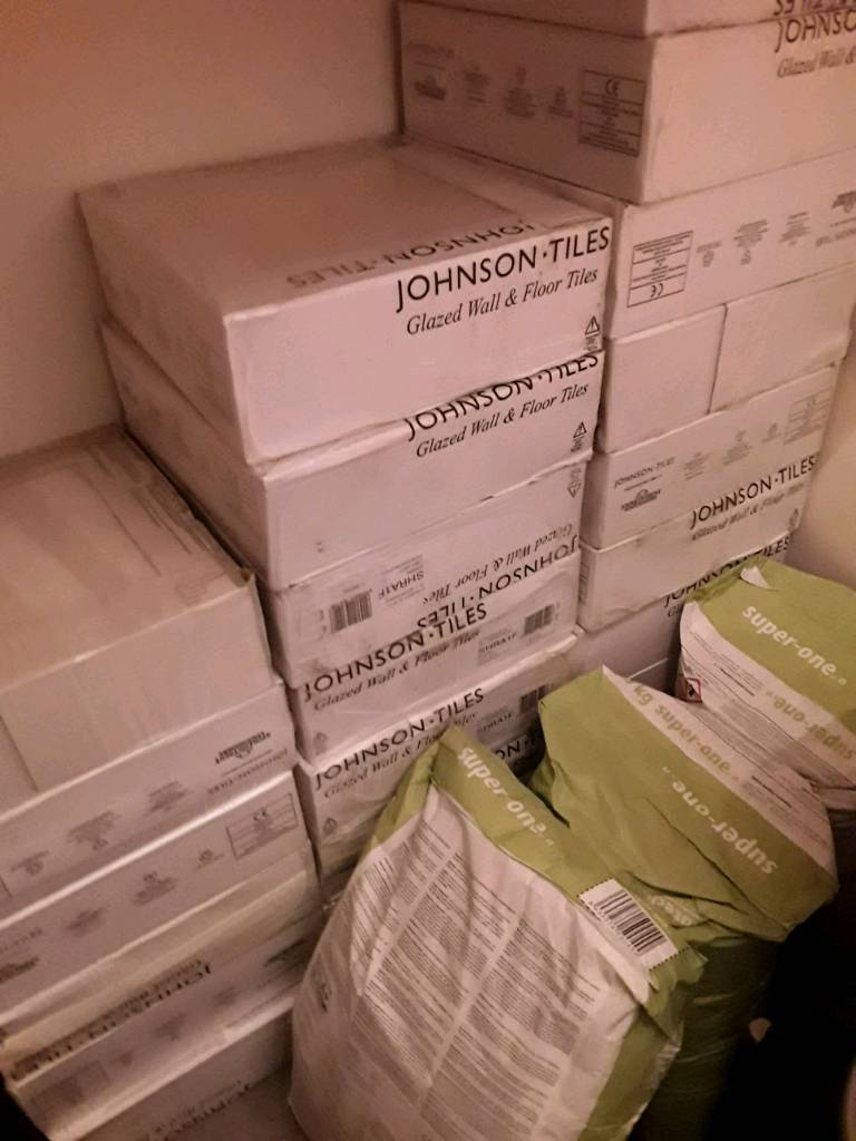26 boxes of tiles, tile adhesive, grout and tile cutter job lot | in ...
