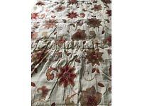Curtains [one pair] Dunelm Embroidered Applique Design