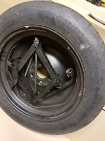 Ford Cmax space saver wheel, tyre, jack and wheel brace