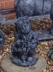 Cute little boy statue