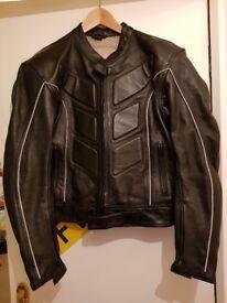 Leather motorcycle jacket size 40 new