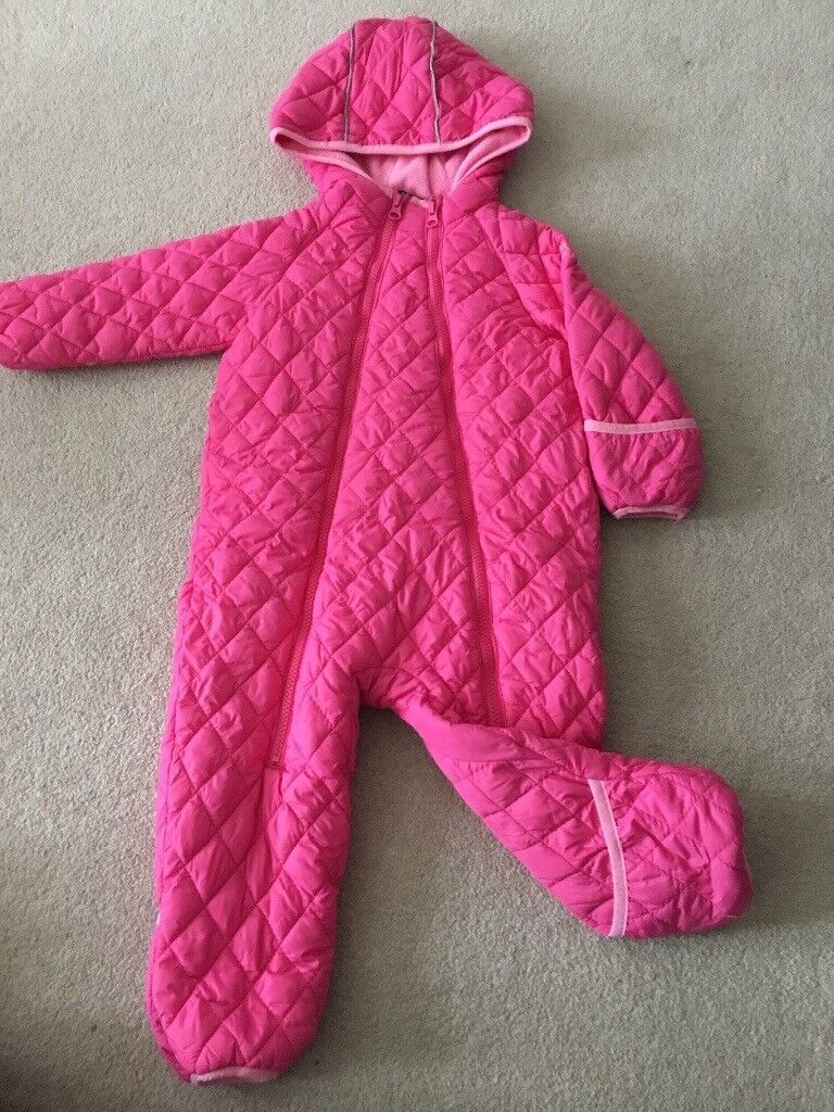Snozu girls snowsuits 24 months 2 years integrated gloves and feet
