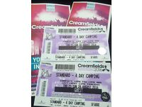 **URGENT** CREAMFIELDS 2 x Standard 4 day Camping Tickets RRP £240.00 each
