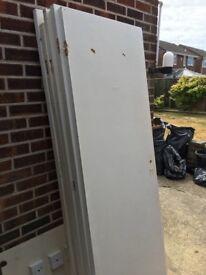Doors, plain white, flat internal doors