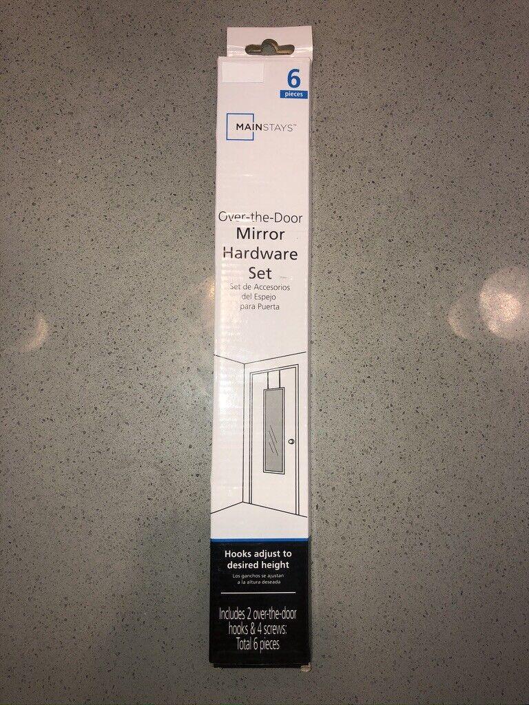 over the door mirror hardware set