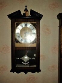 Vintage Style Wall Clock. Excellent Condition.