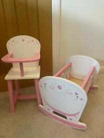 GLTC Cot & High Chair