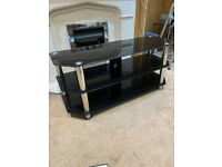 Glass 3 Tiered TV Stand (With Cable Management Holes)