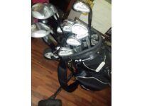 MacGregor Battlesticks Oversize golf clubs with bag and trolley