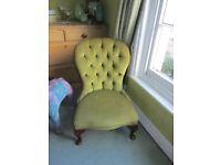 Antique Victorian Mahogany Button Back Spoon Chair Bedroom hall Nursing Display