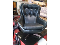 1960's/70's Faux Leather Rocking Egg Chair