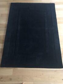 Black Trendy Wool Rug - Never Used