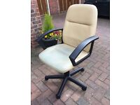 Swivel chair Pc (Cream Leather) with arm rests