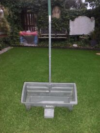 "LEVINGTON SEED SPREADER - 42"" high x 20"" wide x 9 1/2"" deep TROUGH-VGC and LIGHT"