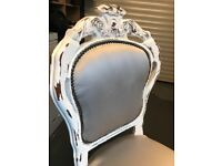 Shabby chic table 4 chairs
