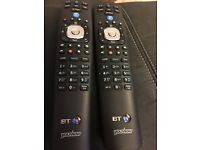 Two BT Youview remotes