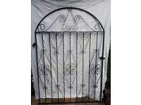 Large Black Metal Gate 4' Wide