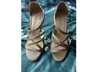 Brand new heels with labels size 7 new look gold shoes
