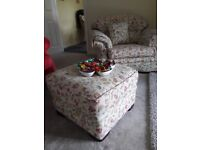 For sale 3 2 1 Suite. Excellent condition with matching footstool and cushions