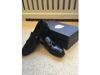 BRAND NEW UNUSED Black Loafers Size UK9.5 (purchased for £200, selling for £100)