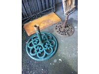 Extra Large Cast Iron Parasol Base call for info