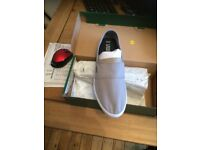 MAURICE LACOSTE CANVAS DECK SHOES IN GREY