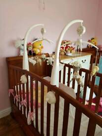 baby cot mobile (over cot) mama's and papas x2 twins?