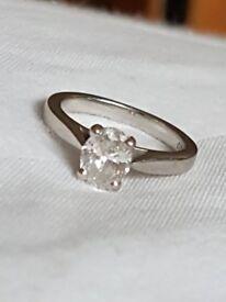 Beautiful Platinum diamond solitaire engagement ring