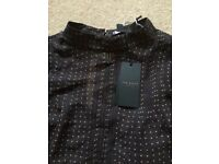 Ted Baker brown spotty top. Size 12. Bnwt