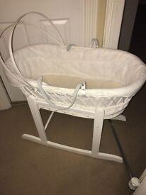 White Baby Wicker Basket