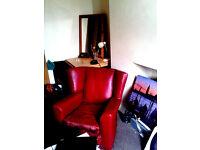 original antigue 1920's vintage retro leather armchair
