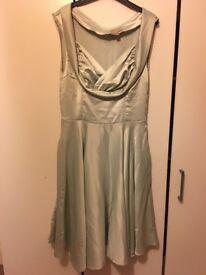 Lindy Bop vintage style silk occasion dress