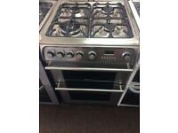 Stainless steel cannon gas cooker grill & double ovens good condition with guarantee